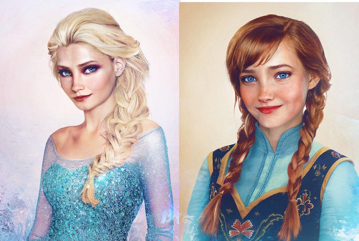 Un Artiste réimagine les personnages de Disney en tant que personnes réelles