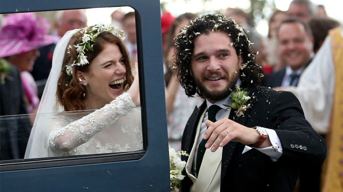 'Game Of Thrones' Stars Kit Harington et Rose Leslie vient de se marier